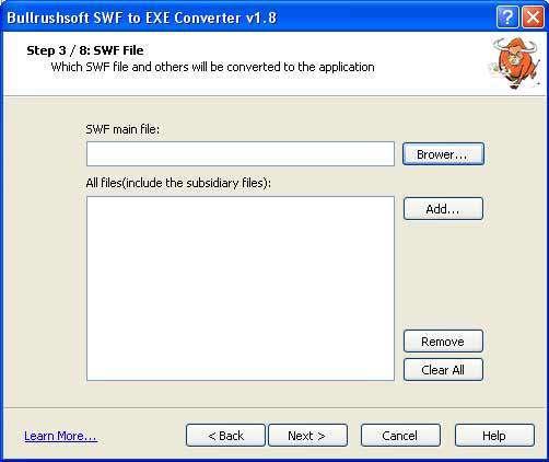 تبدیل فایلهای فلش به فایل اجرایی BullrushSoft SWF2EXE Converter v1.8 Portable