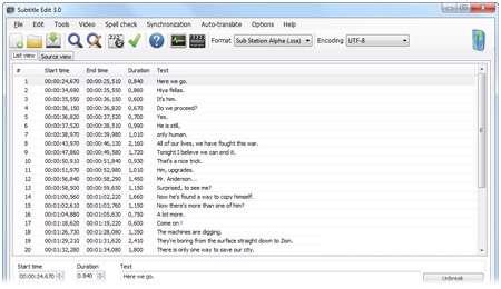 ساخت و ویرایش زیرنویس ها با نرم افزار Subtitle Edit 3.2