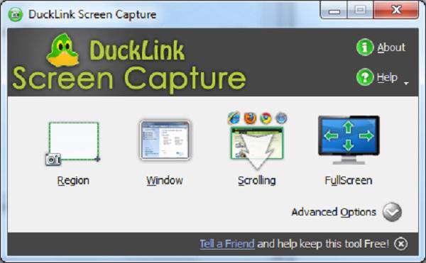 DuckLink Screen Capture 2.7 - گرفتن عکس از صفحه نمایش