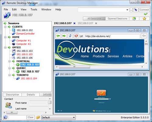 کنترل بر کامپیوتر از راه دور Remote Desktop Manager 6.6.0.0