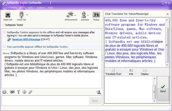 مترجم یاهو مسنجر Yahoo Messenger Translator Pro v4.1.1