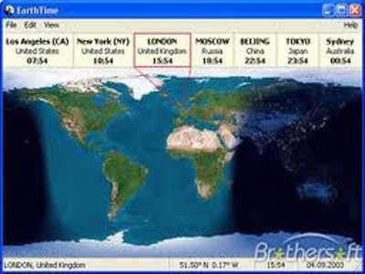 نمایش زمان و تاریخ شهر و کشور با EarthTime 3.3.2