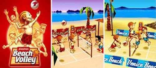 بازی موبایل والیبال ساحلی نسخه جاوا، PlayMan Beach Volley 3D