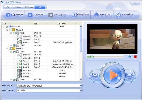 ایجاد دیسک های دی وی دی / Any DVD Cloner Platinum 1.0.9
