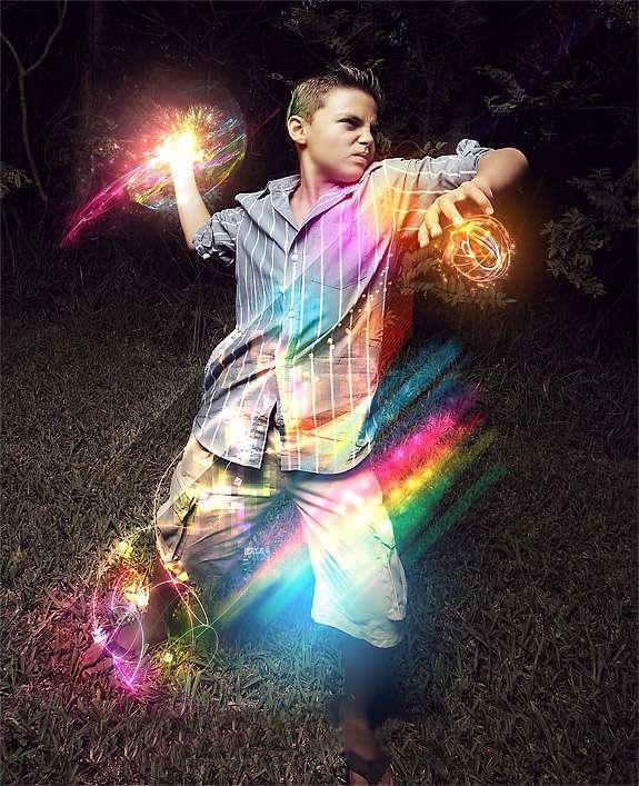 آموزش فتوشاپ - گوی جادویی رنگارنگ