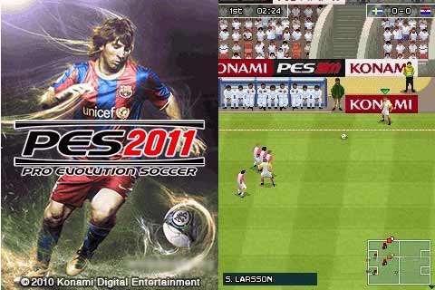 بازی فوتبال Pro Evolution Soccer 2011 جاوا
