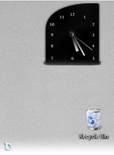 ساعت شیک روی صفحه نمایش (گدجت) Clock Elegance