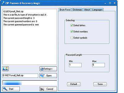 ZIP Password Recovery Magic 6.1.1.252