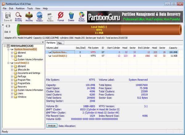 مدیریت کامل هارددیسک با PartitionGuru 3.6.0