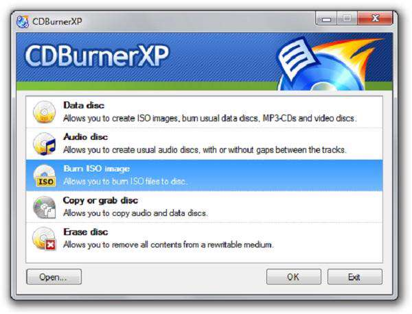 CDBurnerXP 4.4.0.2838 - مدیریت CD و DVD