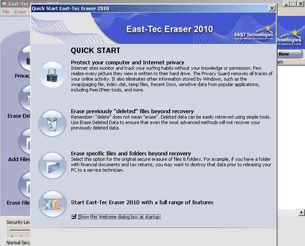 پاکسازی ردپا و جلوگیری از جاسوسی با East Tec Eraser v2012.10.0.1.100