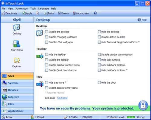 کنترل و محدود كردن دسترسی در كامپیوتر با InTouch Lock v3.6.1444