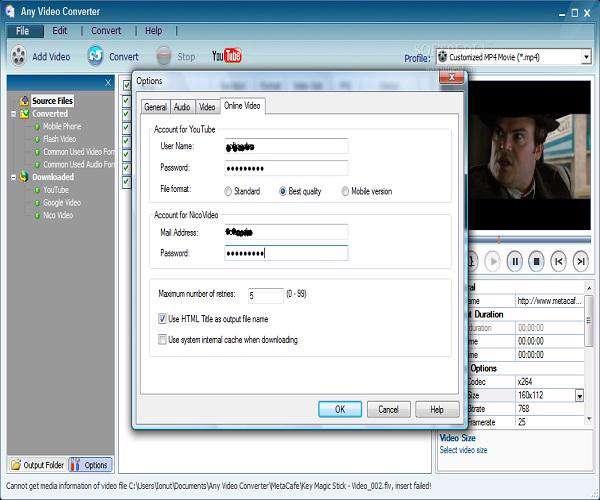 Any Video Converter 3.31 - مبدل فرمت ها