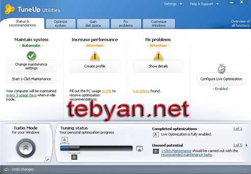 TuneUp Utilities 2012 12.0.2110.9 - بهینه کننده ویندوز