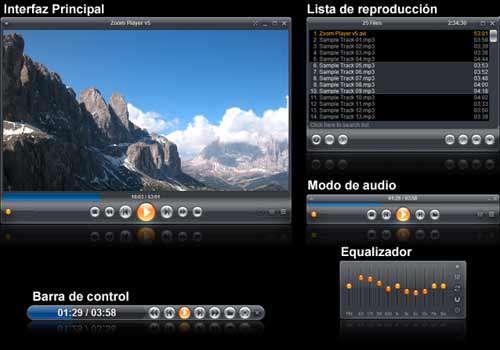 Zoom Player Home FREE 8.10 - پلیر صوتی و تصویری