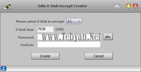 قفل گذاری بر روی فلش و حافظه های همراه با Odin U Disk Encrypt Creator v7.6.2