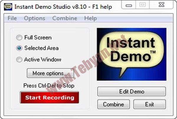 فیلمبرداری از صفحه دسکتاپ با  Instant Demo v8.10.245