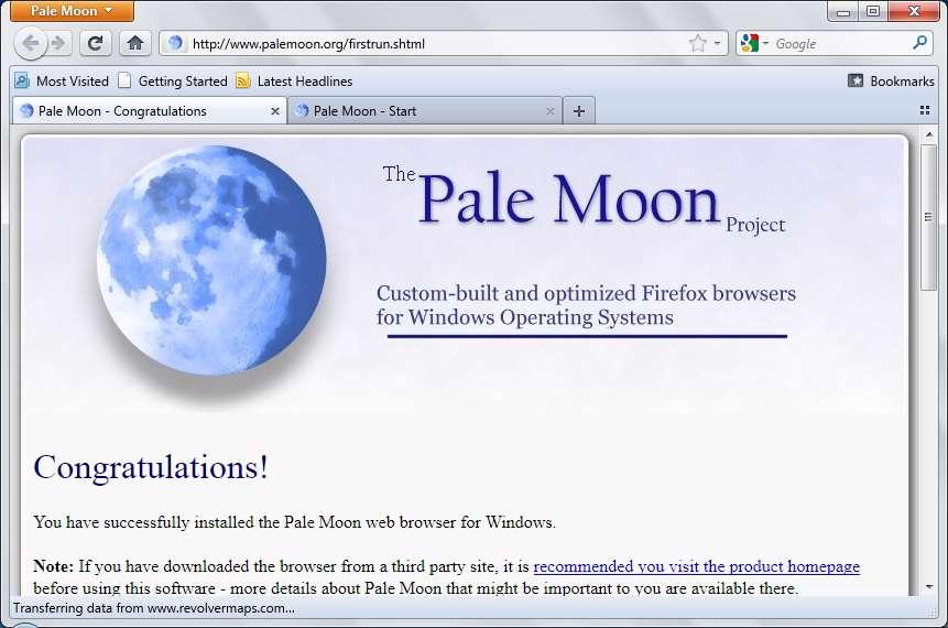 Pale Moon 9.0.1 - مرورگر حرفه ای