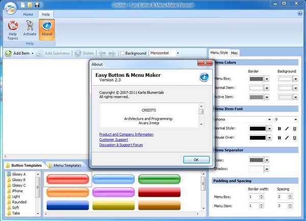 طراحی کلید و منوهای صفحات وب با Blumentals Easy Button And Menu Maker Personal v2.3