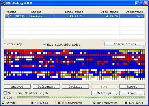 UltraDefrag 5.0 - بهینه کننده سیستم