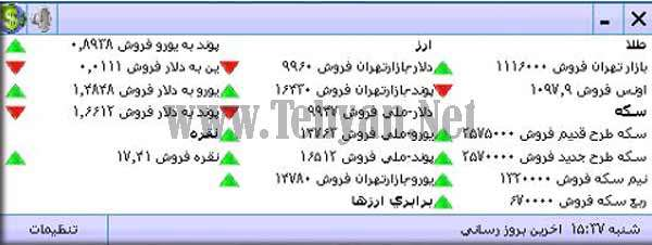 نمایش آنلاین قیمت طلا، سکه و انواع  ارز در کامپیوتر با ZCast v.0.9.689