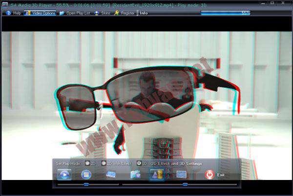 تماشای فیلم های سه بعدی با 3D Video SAMedia3D Player v1.0.0.3