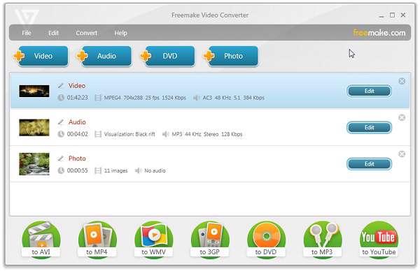 Freemake Video Converter 3.0.1.3 - مبدل ویدیویی