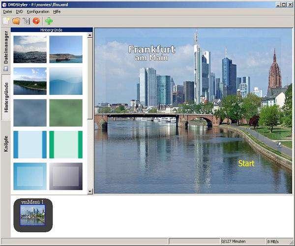 DVDStyler v2.1 - مدیریت CD و DVD
