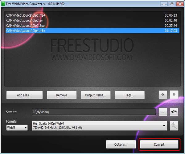 Free WebM Video Converter 5.0.4 - مبدل ویدیویی