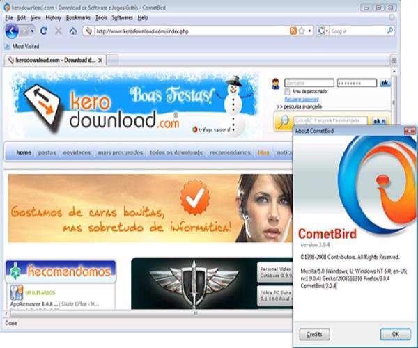 CometBird 8.0 - مرورگر اینترنتی