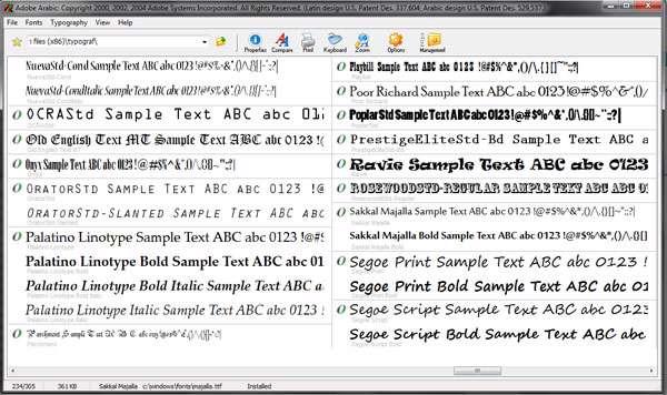 پیش نمایش و مدیریت فونت های سیستم با Typograf 5.0.0.122 Portable