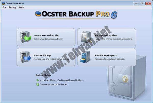 تهیه نسخه پشتیبان از فایلهای ضروری با Ocster Backup Pro v6.26
