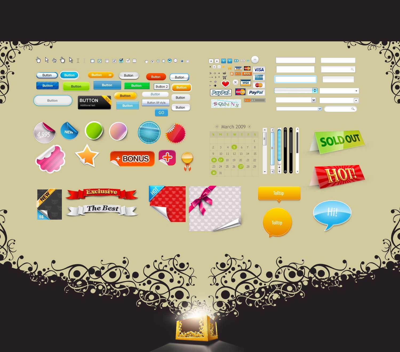 آیکون و قالب های لازم برای طراحی یک سایت فروشگاهی