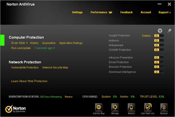 Norton AntiVirus 2012 v19.5