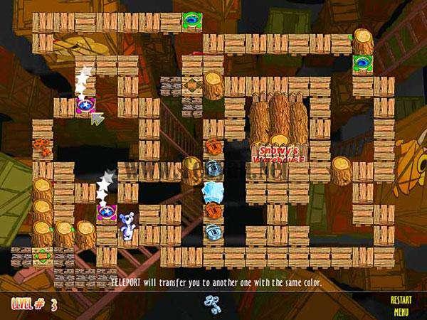 بازی اسنوفی و جزیره پازل Snowy Puzzle Islands