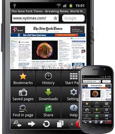 نرم افزار موبایل مرورگر اپرا Opera Mobile Web Browser 11.5.4