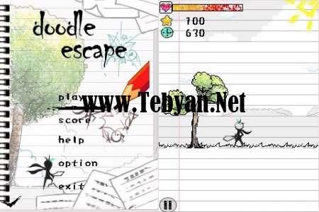 دفاع کن و فرار کن با Doodle Escape جاوا