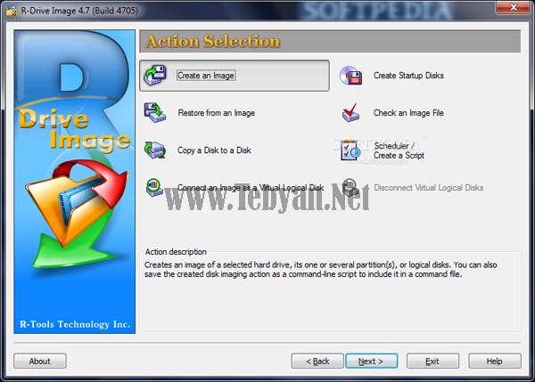 پشتیبان و ایمیج گیری از اطلاعات هارددیسک با R-Drive Image v4.7 Build 4735