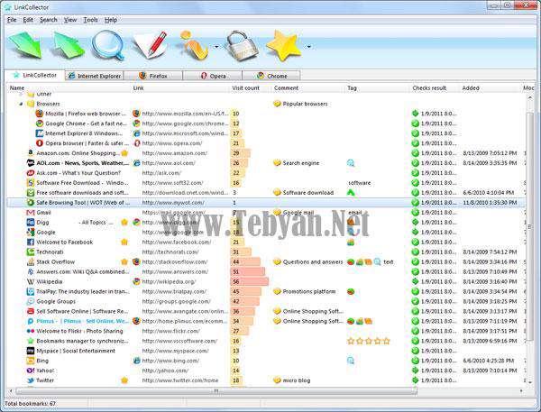 مدیریت آدرس لینک و بوک مارک اینترنتی با LinkCollector v3.7.7.0 پرتابل