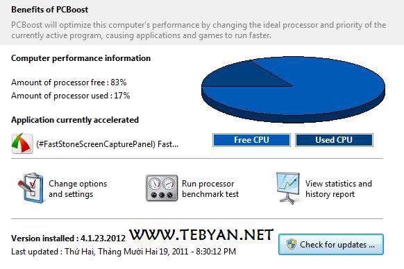 بهینه سازی سرعت رایانه، PGWARE PCBoost 4.2.6.2012