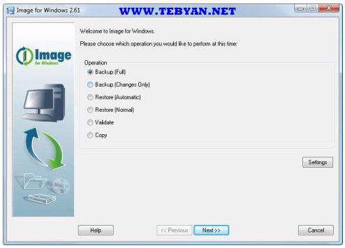 پشتیبان گیری از اطلاعات، Terabyte Image for Windows 2.69