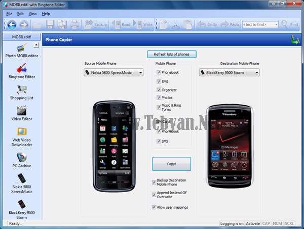 مدیریت و کنترل تلفن همراه از طریق کامپیوتر با MOBILedit 6.0.2.1506