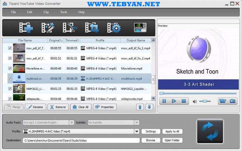 تبدیل فایل های ویدئویی، Tipard Video Converter 6.1.26