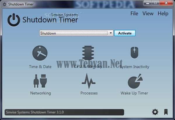 زمانبندی برای خاموش کردن کامپیوتر با Shutdown Timer v3.3.4