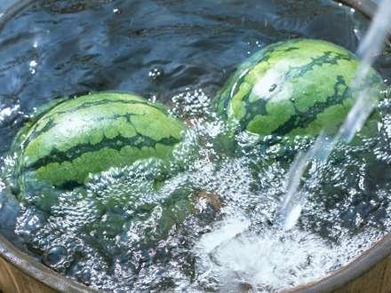 دو هندوانه درآب