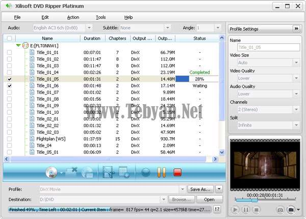 تبدیل DVD به انواع فورمت فیلم با Xilisoft DVD Ripper Ultimate v7.0.1 build1219