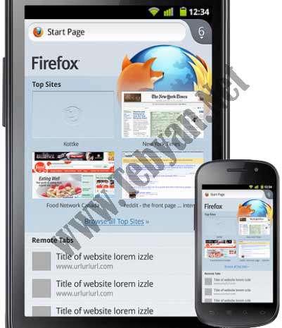 نرم افزار موبایل مرورگر فایرفاکس Mozilla Firefox Web Browser v10.0 آندروید