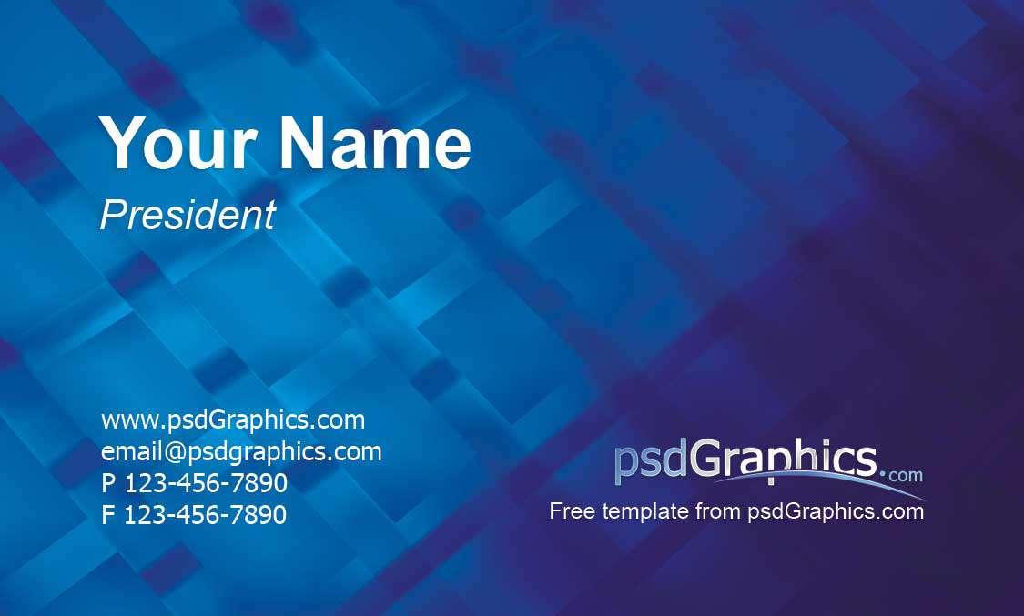 نمونه فایل لایه باز کارت ویزیت تجاری مدرن و زیبا