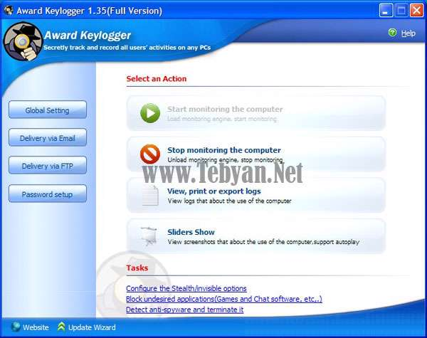 جاسوس اطلاعات سیستم Award Keylogger Pro v2.22