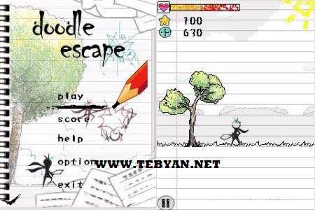 بازی زیبا و جذاب Doodle Escape نسخه جاوا